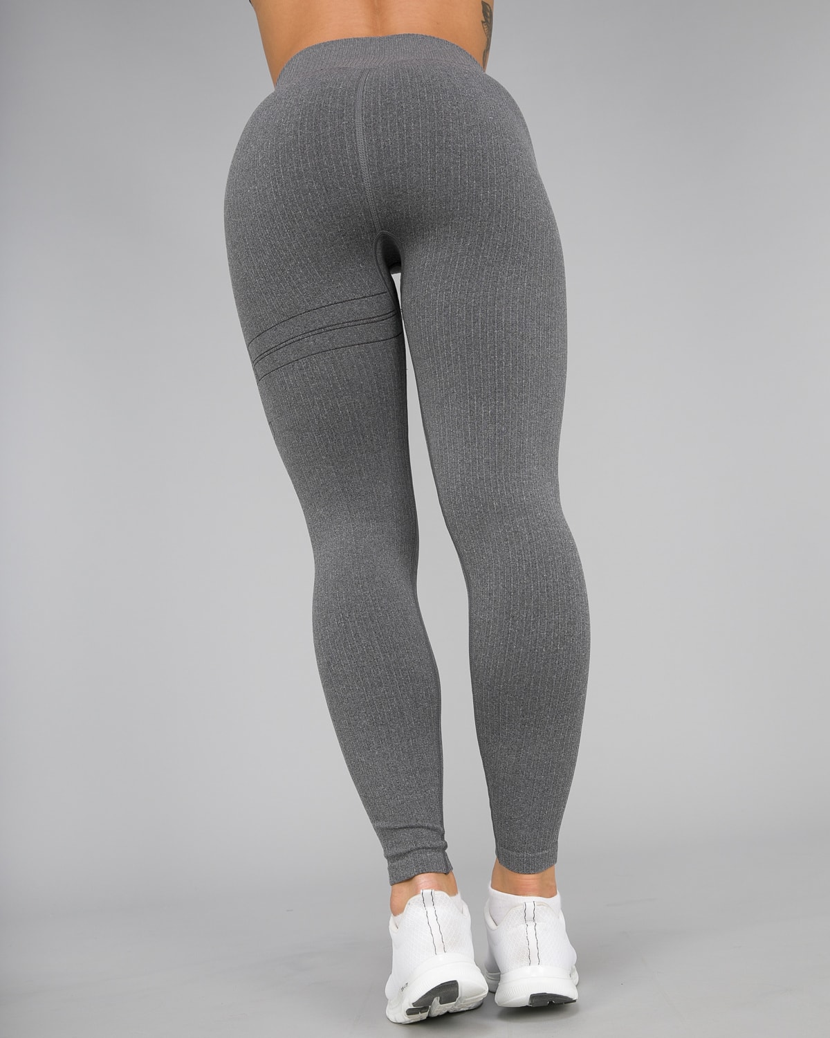 Aim'n Grey Ribbed Seamless Tights13