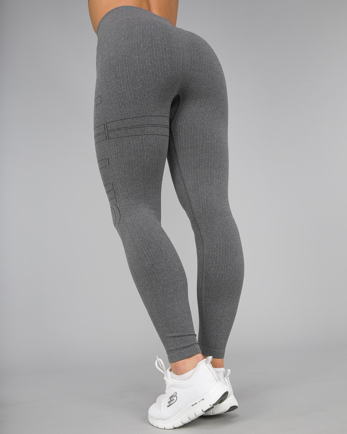 Aim'n Grey Ribbed Seamless Tights14