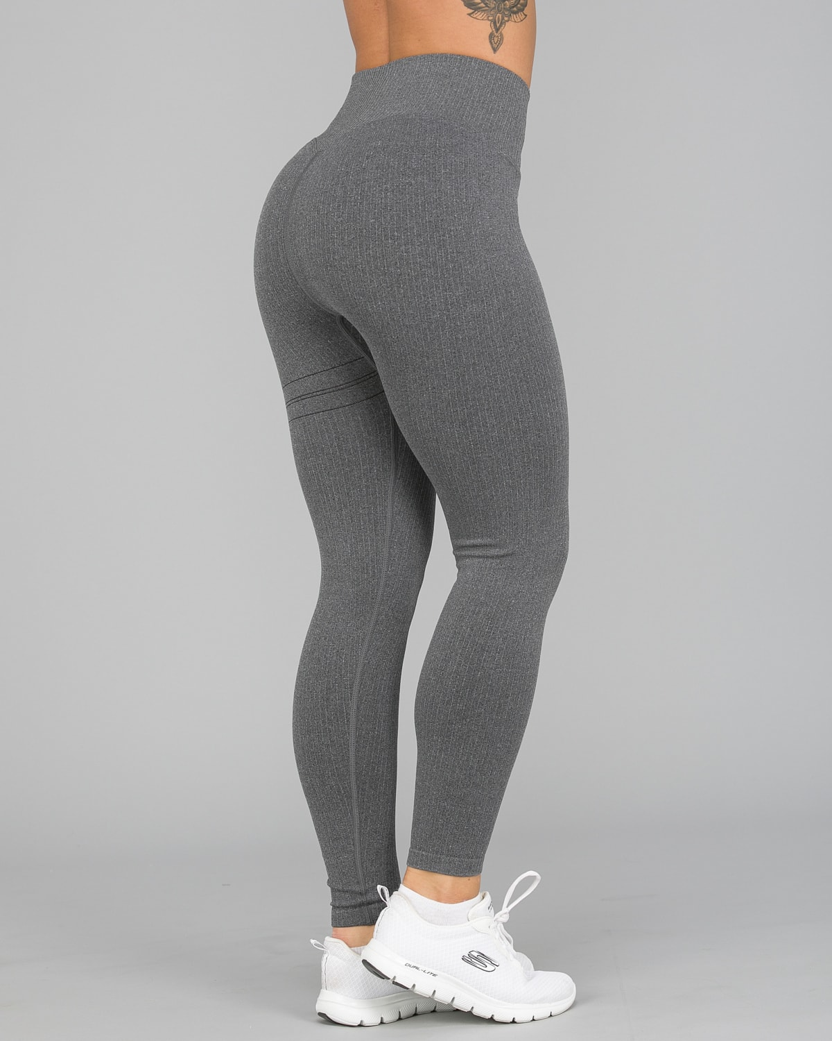 Aim'n Grey Ribbed Seamless Tights2