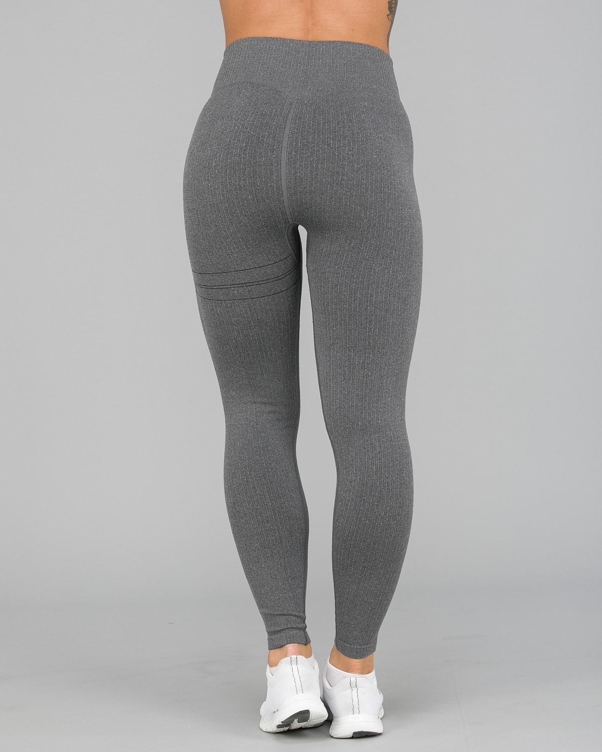 Aim'n Grey Ribbed Seamless Tights3