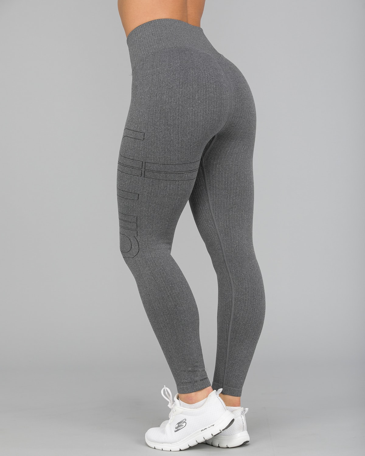 Aim'n Grey Ribbed Seamless Tights4