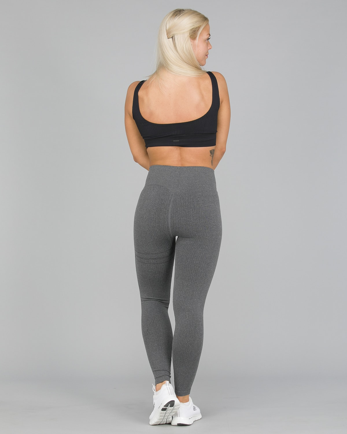 Aim'n Grey Ribbed Seamless Tights7