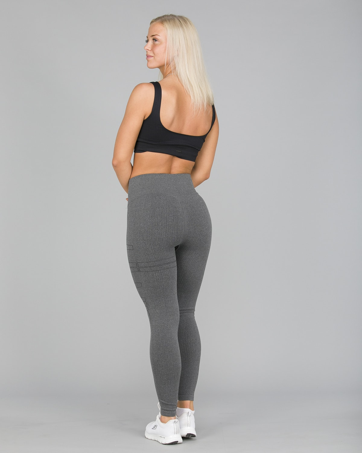 Aim'n Grey Ribbed Seamless Tights8