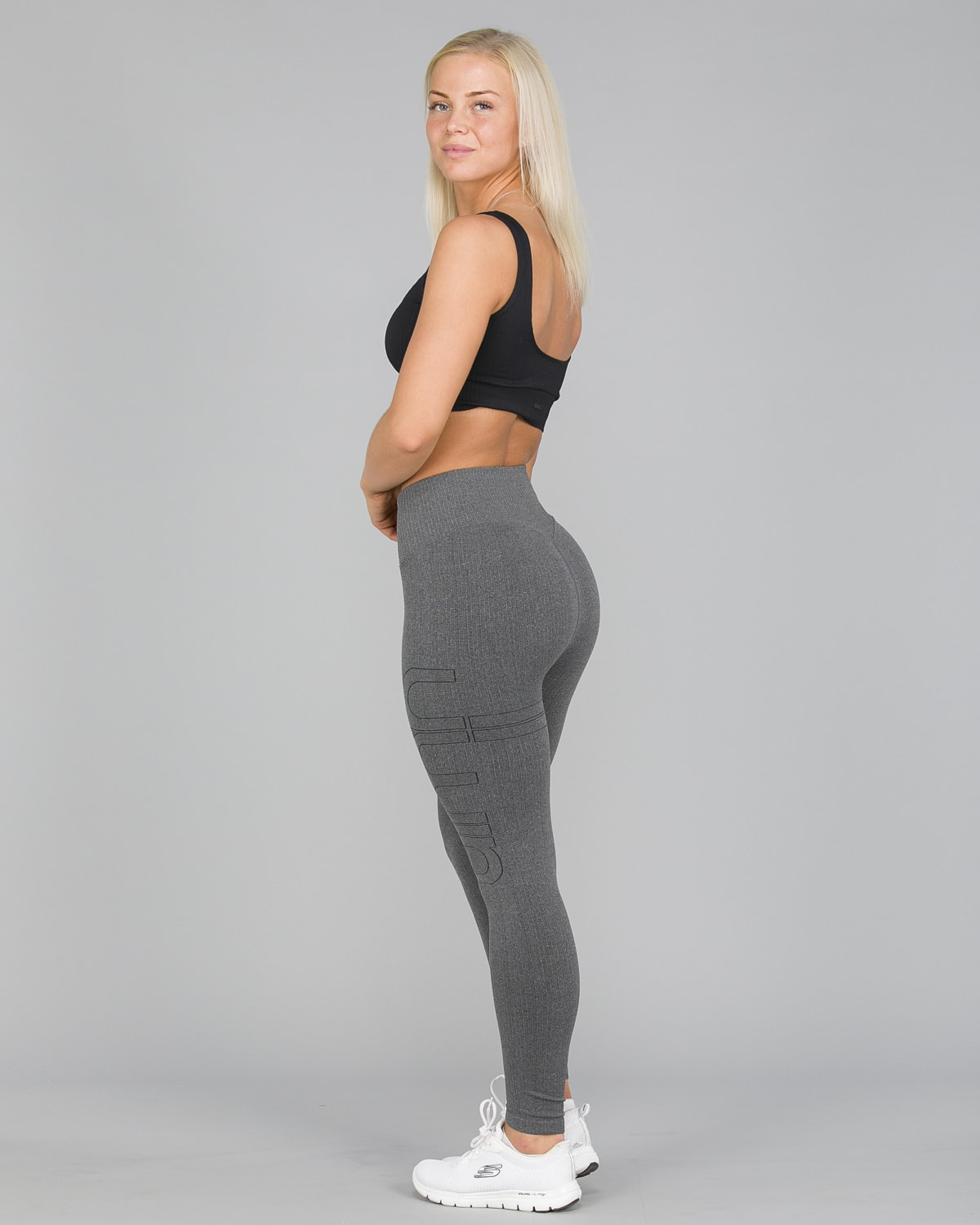 Aim'n Grey Ribbed Seamless Tights9