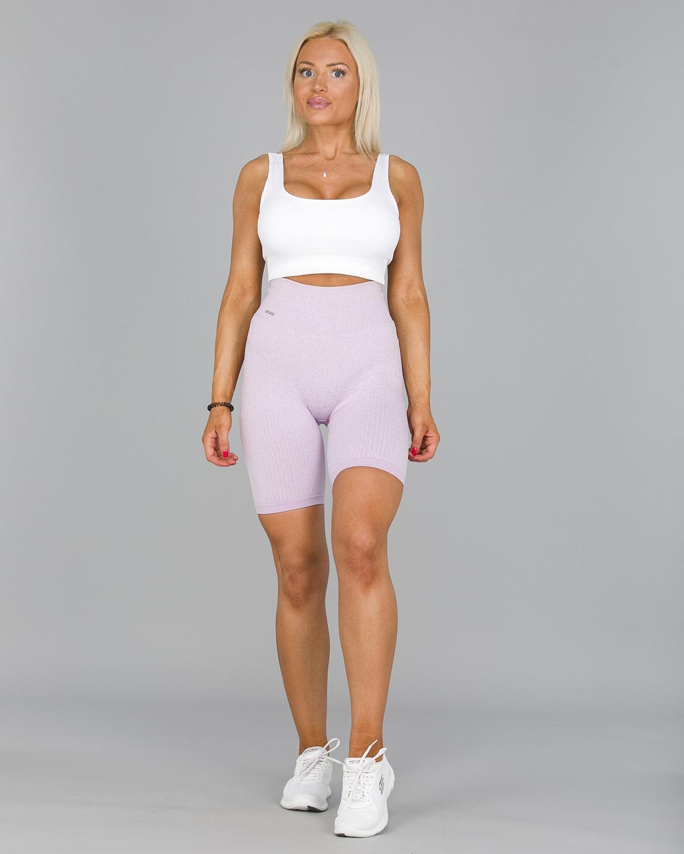 Aim'n Purple Ribbed Seamless Biker Shorts4