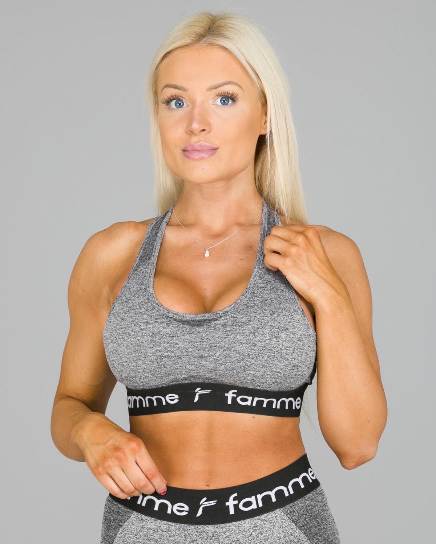 FAMME – Drop Sports Bra – Dark Grey2