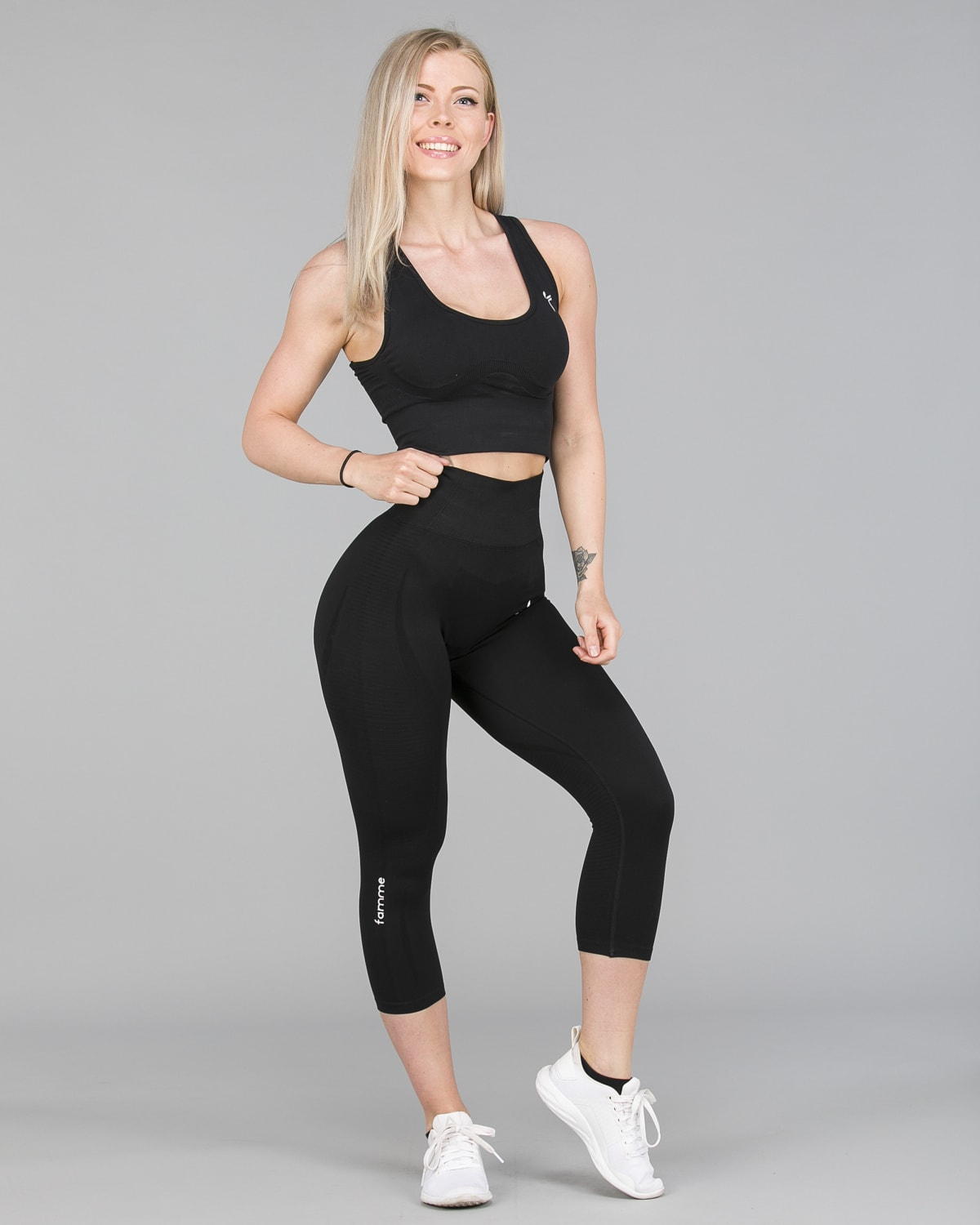FAMME – Vortex Leggings 7:8 – Black2