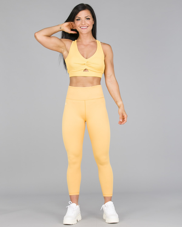 Workout Empire – Core 7:8 Leggings – Buff Yellow1