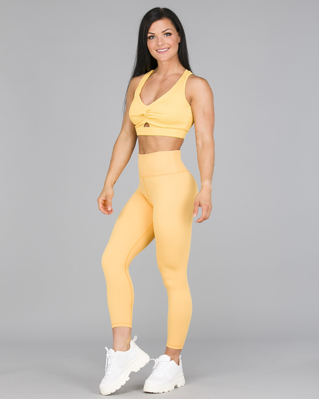 Workout Empire – Core 7:8 Leggings – Buff Yellow2