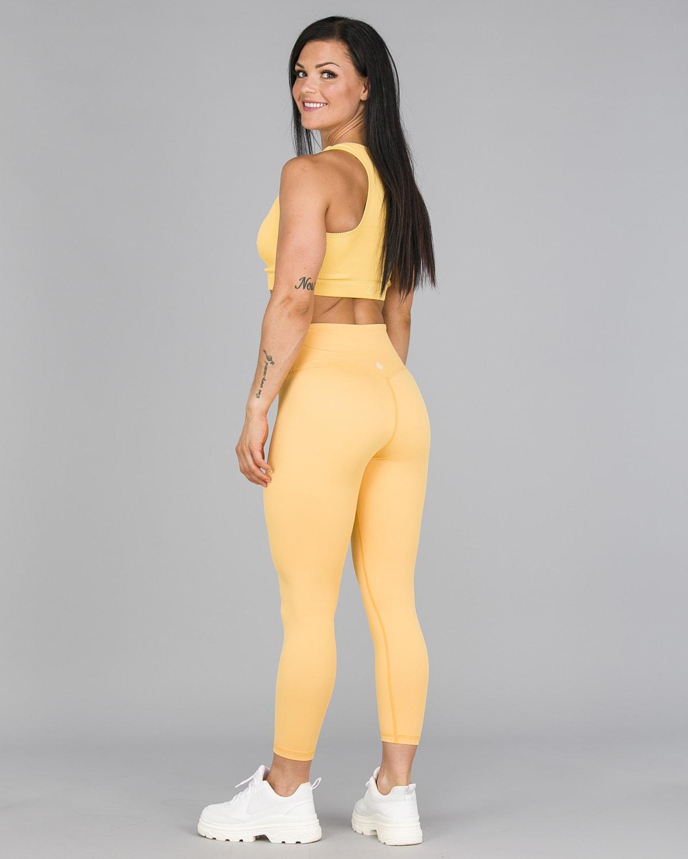 Workout Empire – Core 7:8 Leggings – Buff Yellow3