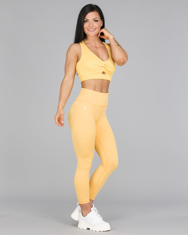 Workout Empire – Core 7:8 Leggings – Buff Yellow5