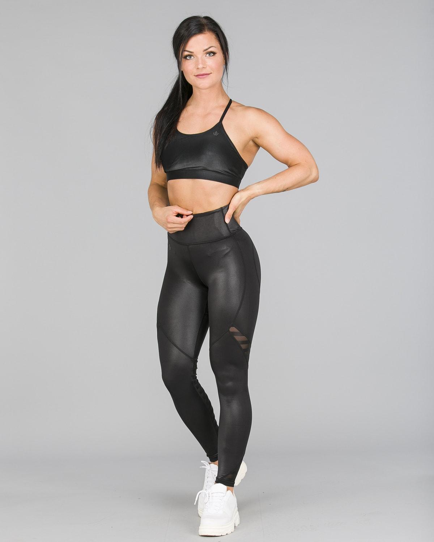 Workout Empire – Herrstedt Shine Leggings – Svart2