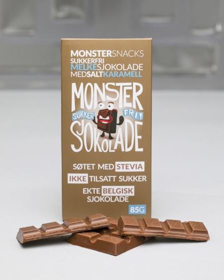 Belgisk Stevia Melkesjokolade - Salty Caramel 85g
