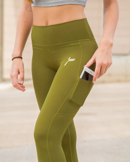 FAMME - Techna Tights - Forest Green