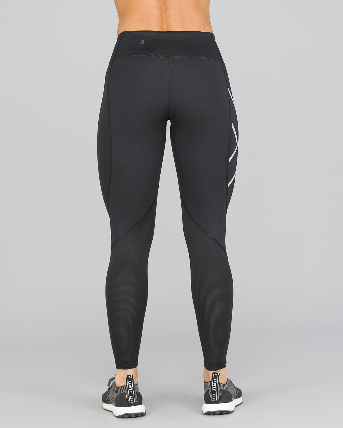 2XU Run Mid-Rise Dash Comp Tights Women – Black:Silver Reflective10