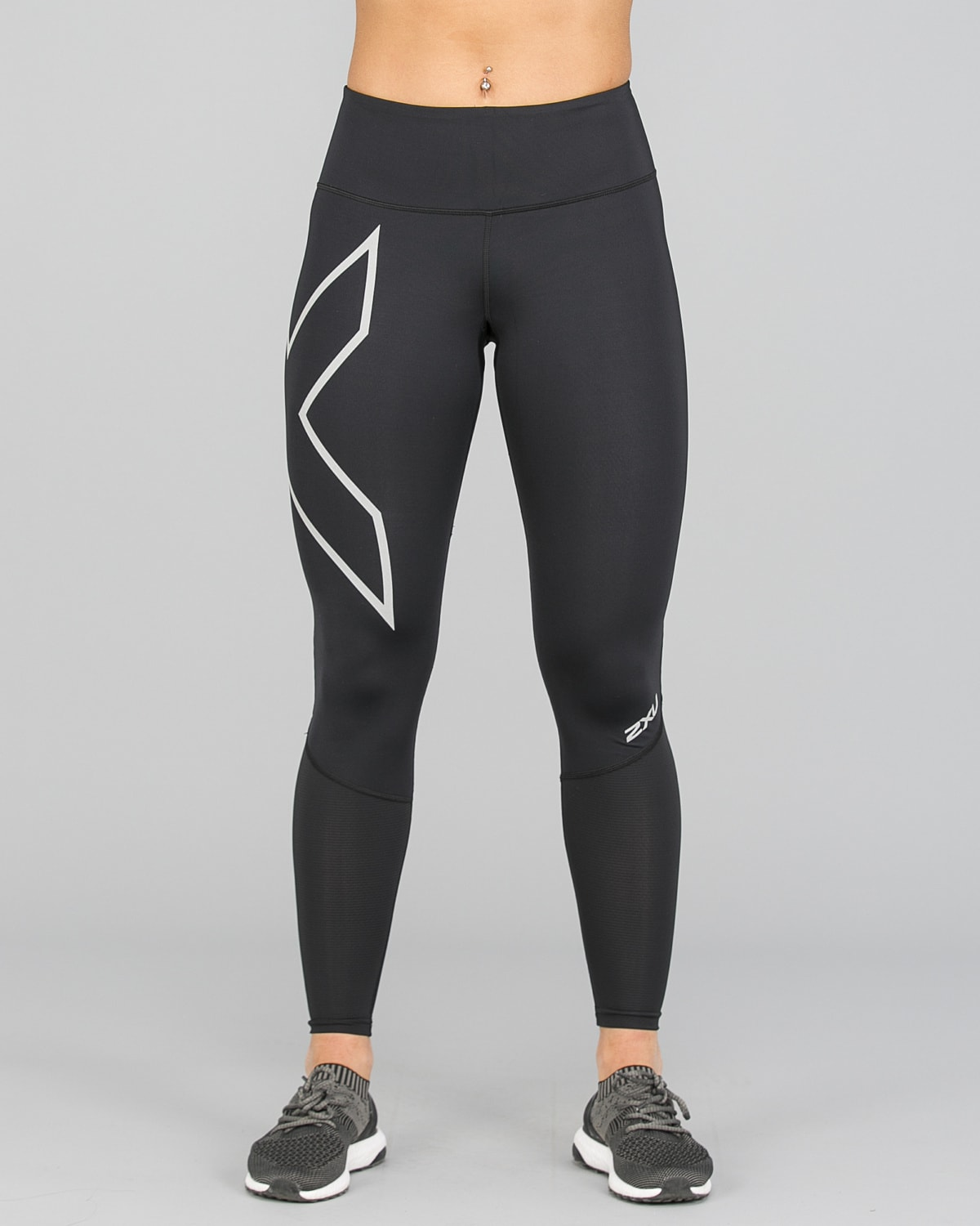 2XU Run Mid-Rise Dash Comp Tights Women – Black:Silver Reflective13