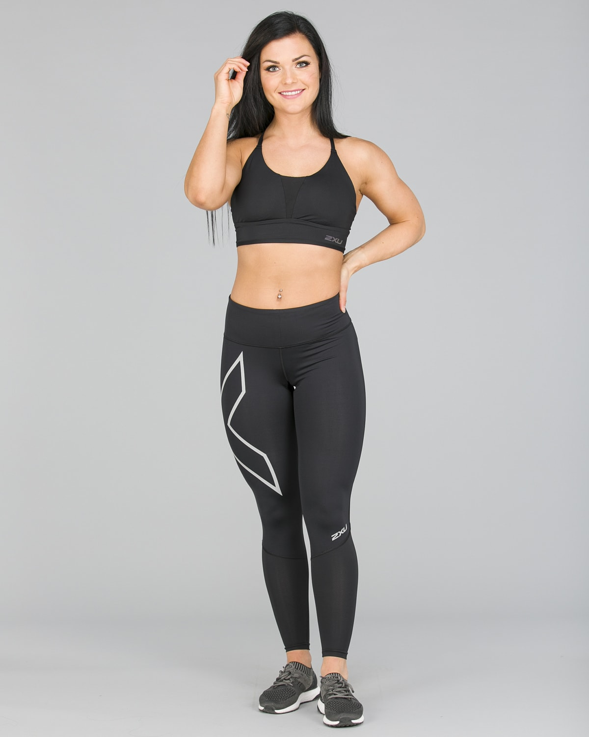 2XU Run Mid-Rise Dash Comp Tights Women – Black:Silver Reflective15