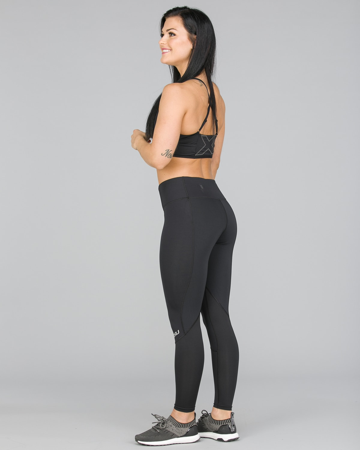 2XU Run Mid-Rise Dash Comp Tights Women – Black:Silver Reflective18
