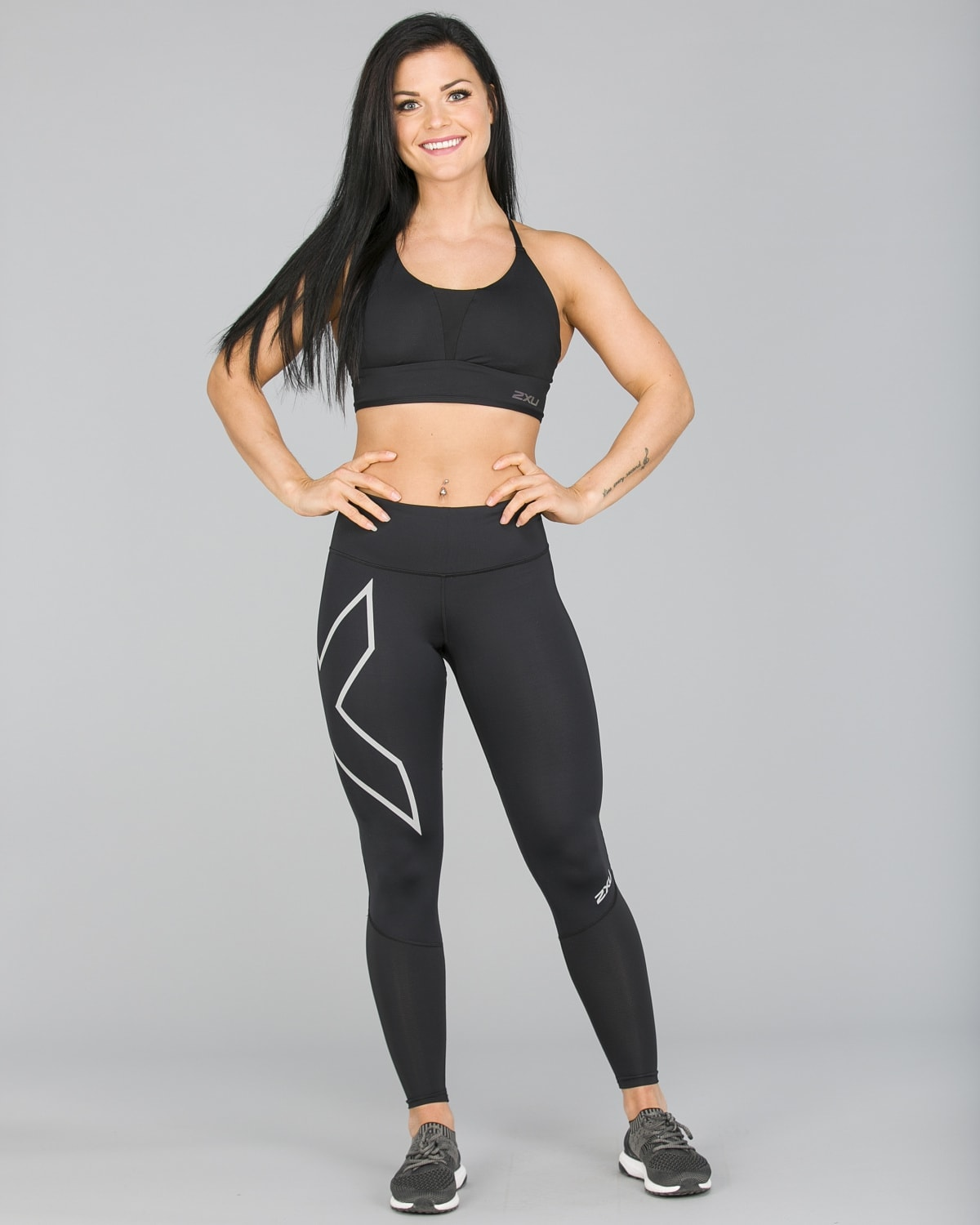 2XU Run Mid-Rise Dash Comp Tights Women – Black:Silver Reflective20