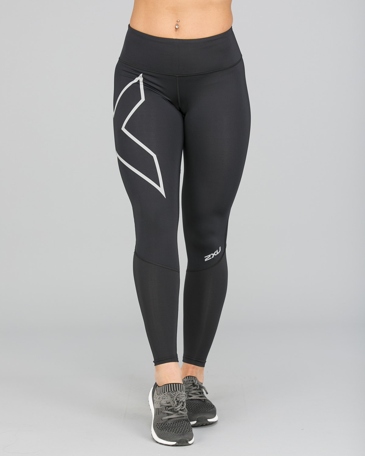 2XU Run Mid-Rise Dash Comp Tights Women – Black:Silver Reflective7