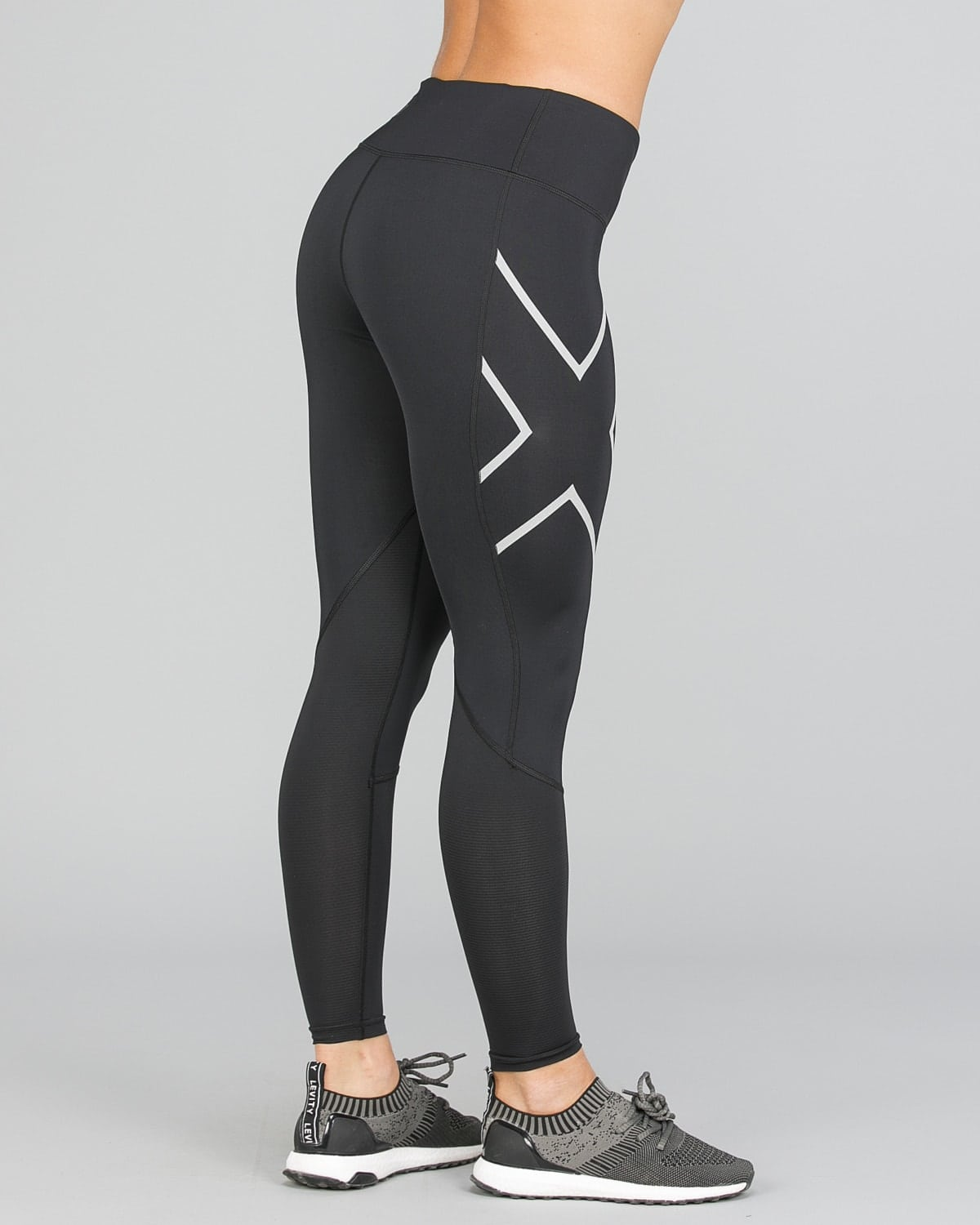 2XU Run Mid-Rise Dash Comp Tights Women – Black:Silver Reflective8