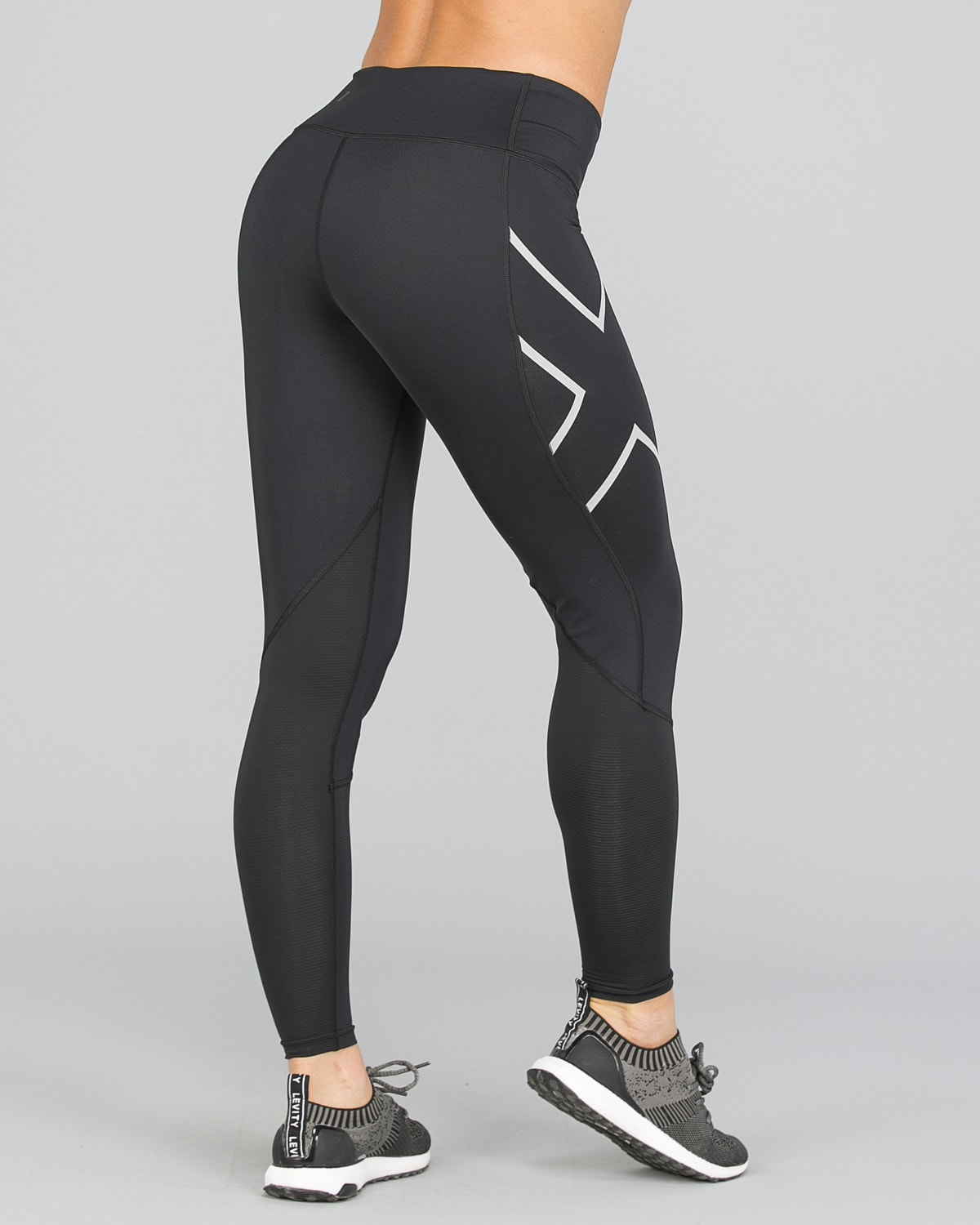 2XU Run Mid-Rise Dash Comp Tights Women – Black:Silver Reflective9