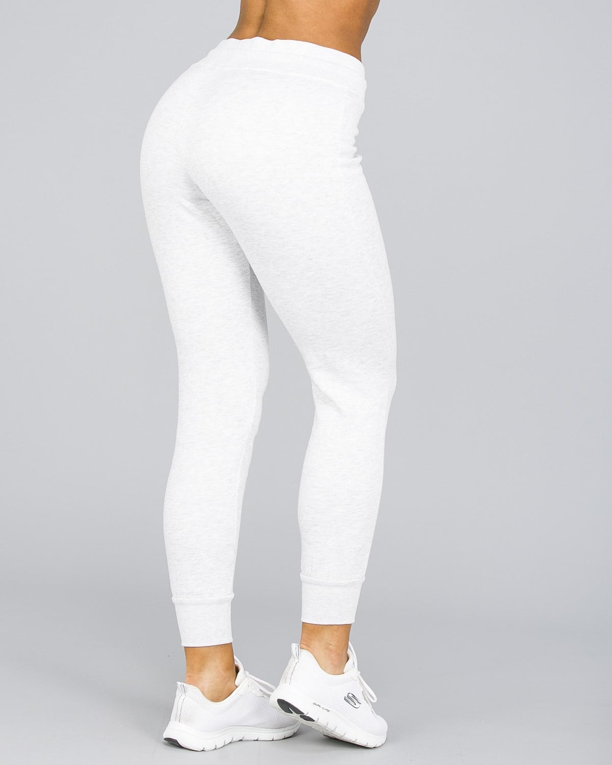 4F Fleece Pant Women – Light Grey Melange5