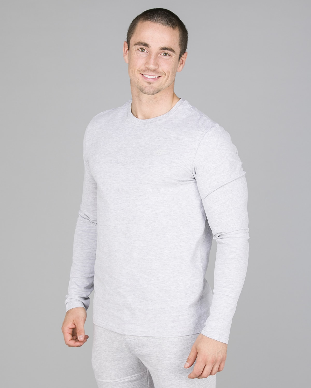4F Long Sleeve Men – Light Grey Melange2