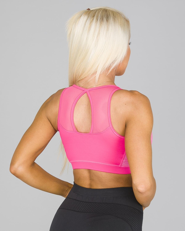 4F Sports Bra – Hot Pink Melange3