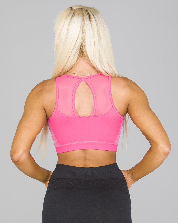 4F Sports Bra – Hot Pink Melange4