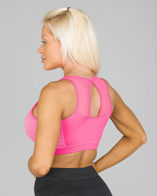 4F Sports Bra – Hot Pink Melange5
