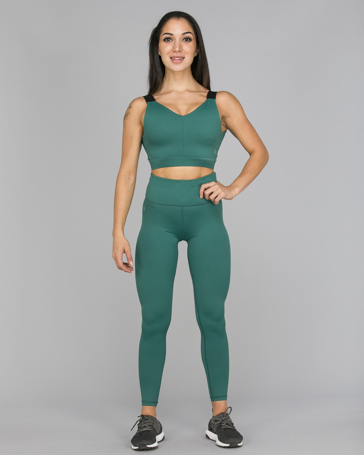 Workout Empire – With Confidence Shape Leggings – Emerald Green1