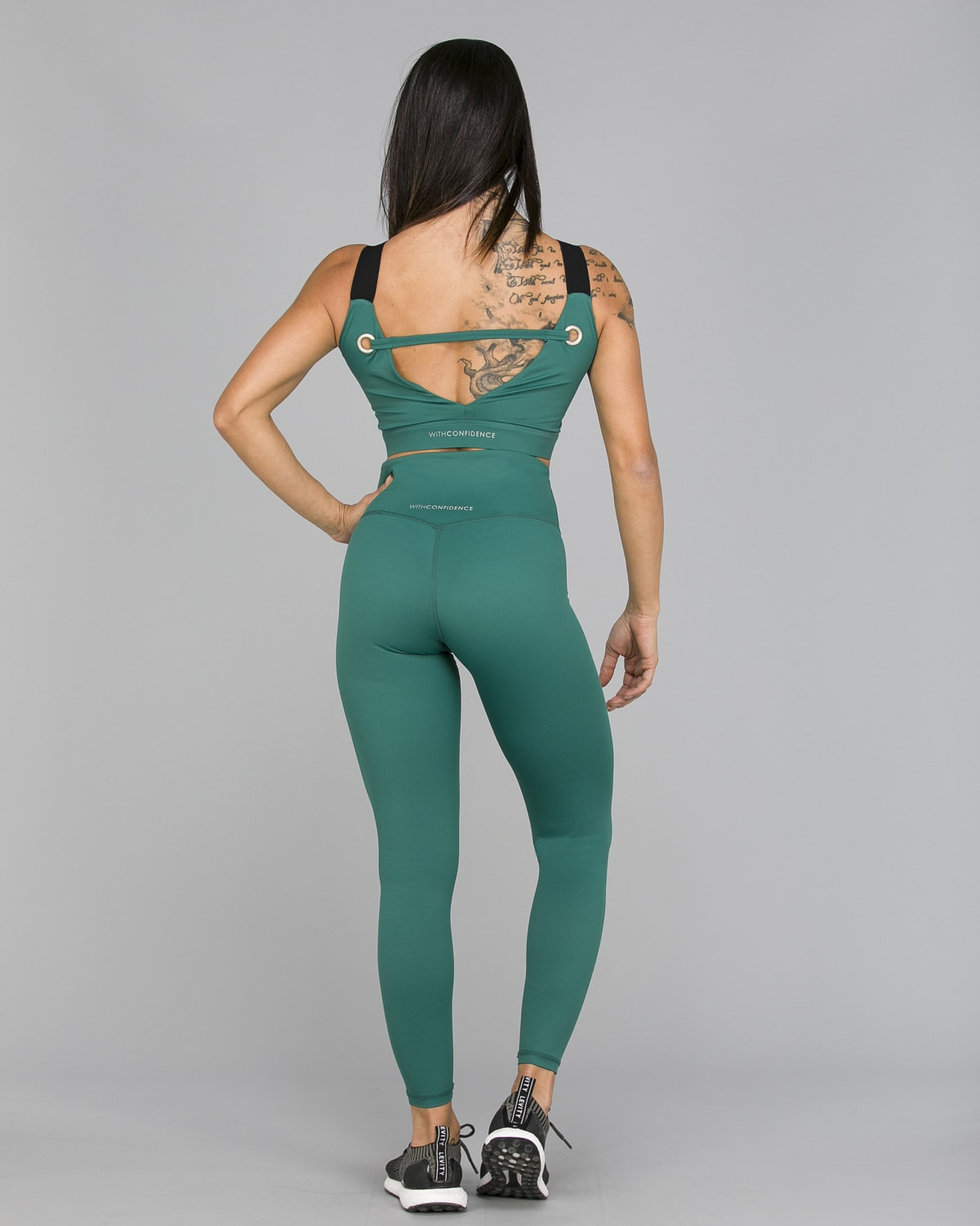 Workout Empire – With Confidence Shape Leggings – Emerald Green3