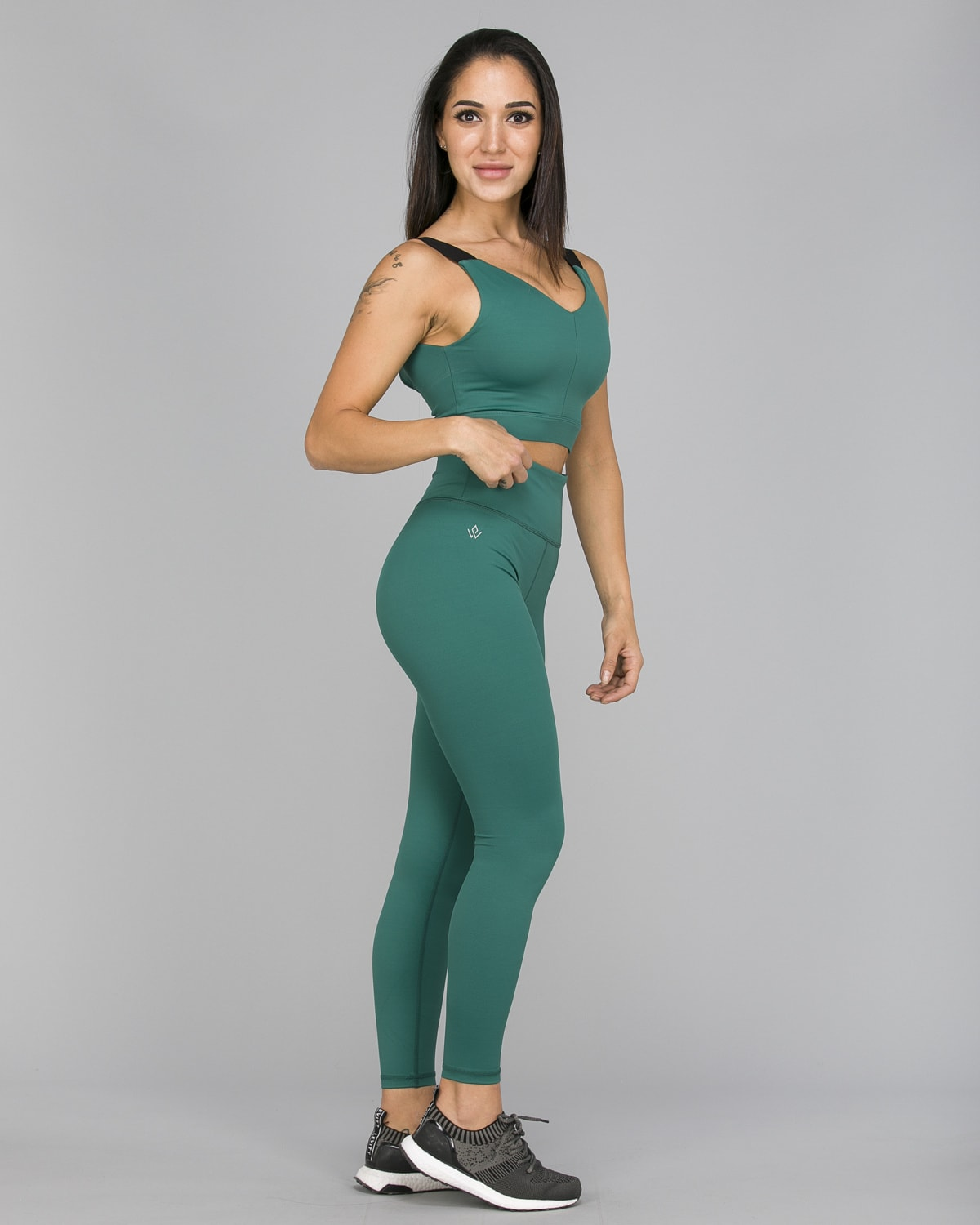 Workout Empire – With Confidence Shape Leggings – Emerald Green4