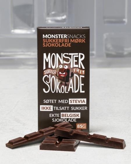 Belgisk Stevia Mørk Sjokolade 85g - FORBEDRET SMAK!
