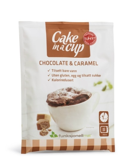 Funksjonell Mat Cake In A Cup Sjokolade & Karamell 65g