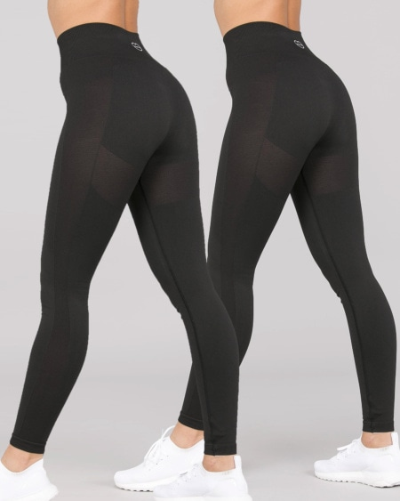 2-pack BumPro Power Up! Tights Black
