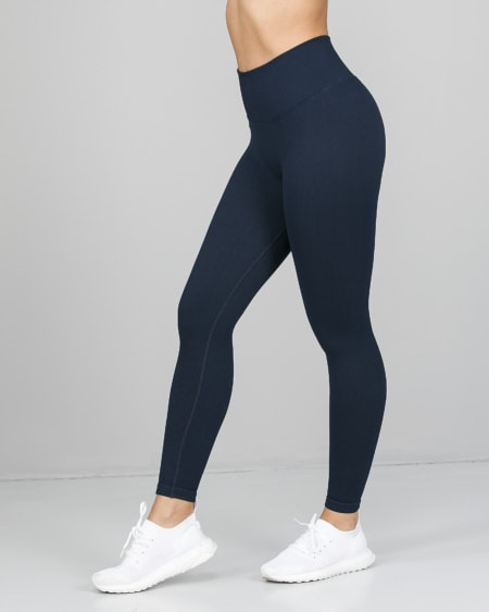 Weightless Perfect Rib Scrunchie Tights Navy