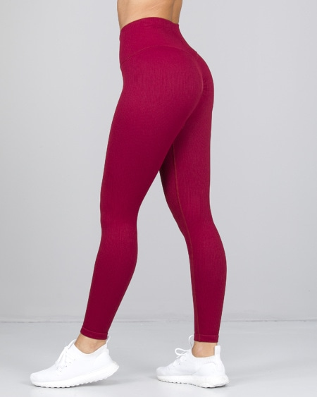 Weightless Perfect Rib Scrunchie Tights Wine