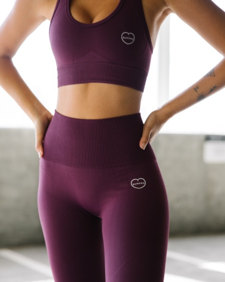 BumPro Hyper Legging Aubergine Dark Red