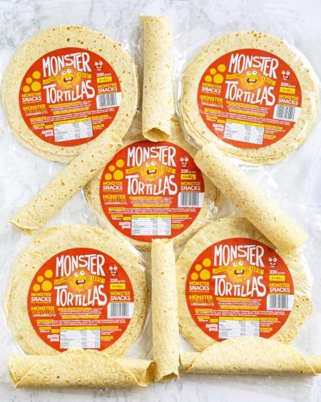 Monster Lavkarbo Tortillas - PAKKETILBUD 30 LEFSER!