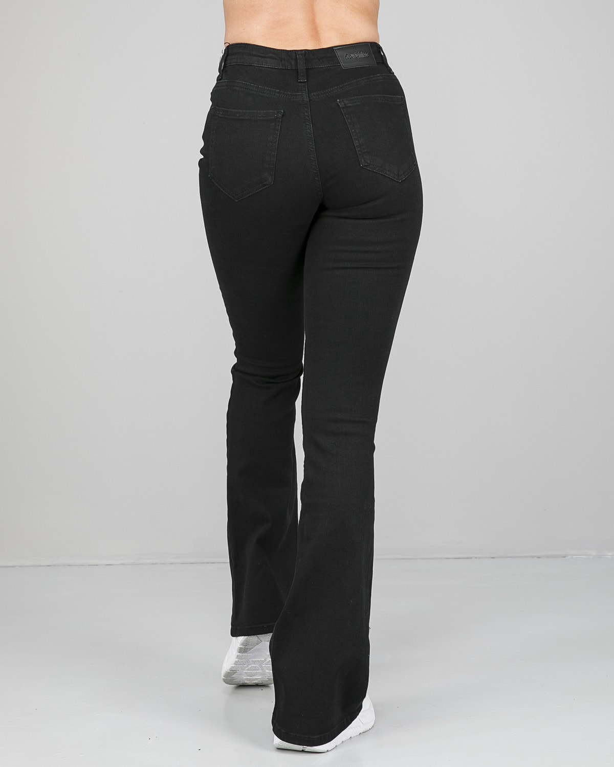 Weightless Chrissy Bootcut Stretch Jeans Black Tights.no