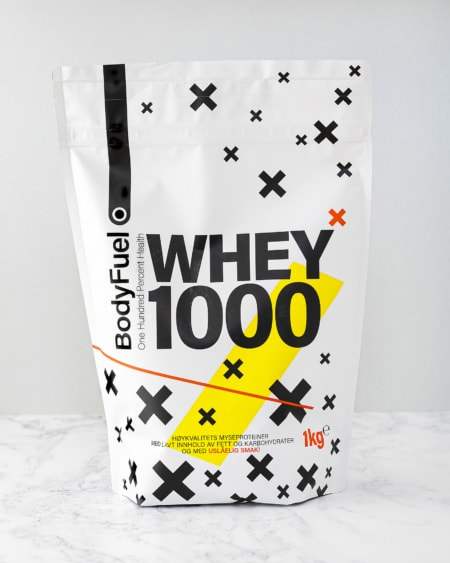 BodyFuel 1kg Whey 1000 - BESTSELGER