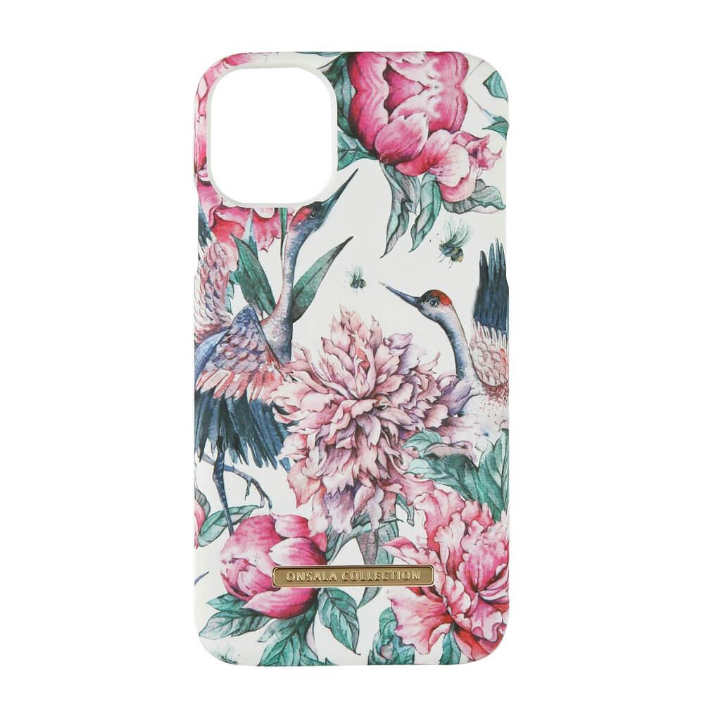ONSALA COLLECTION Mobildeksel Soft Pink Crane iPhone 11