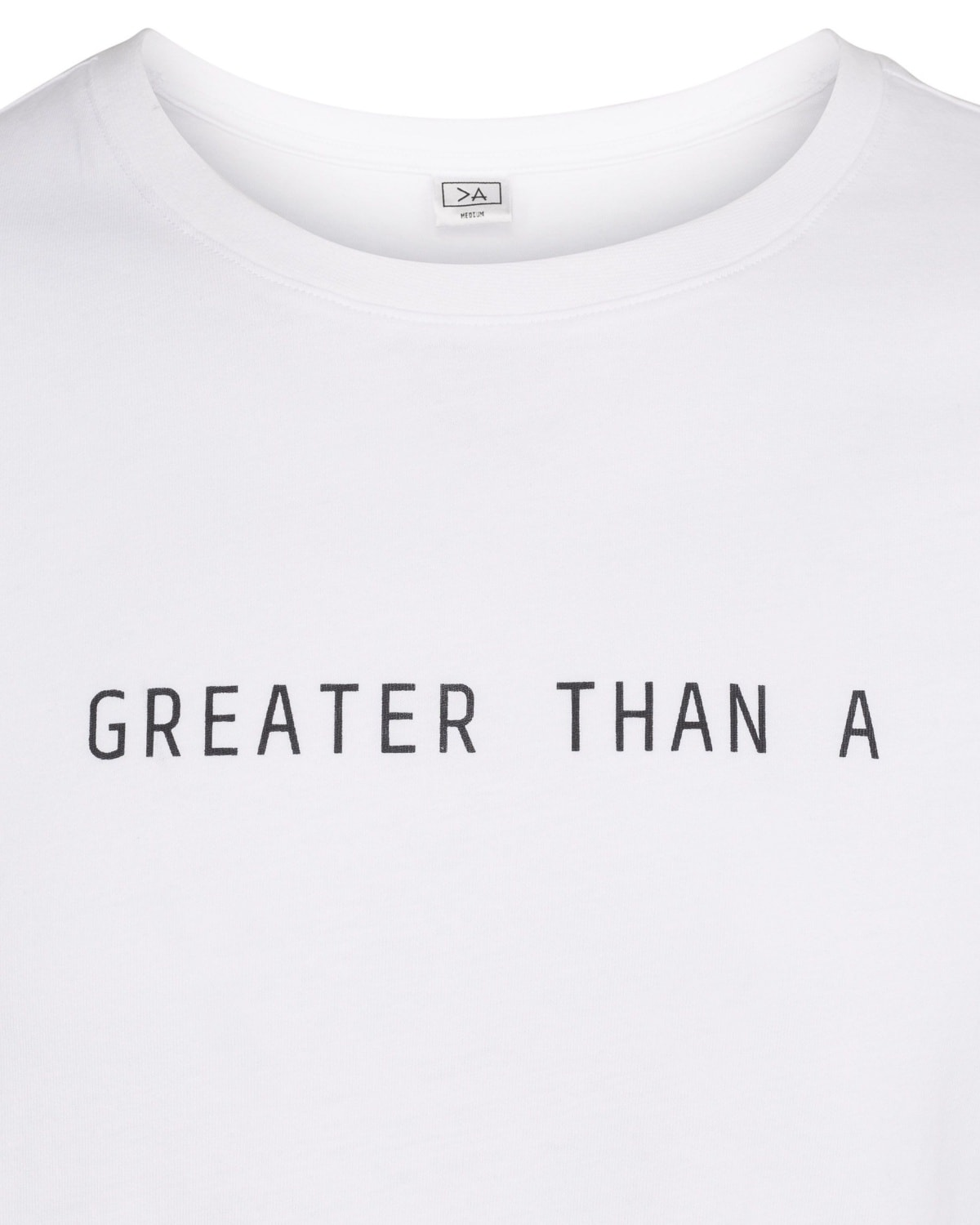 Greater Than A Core Tee V Neck White Tights.no
