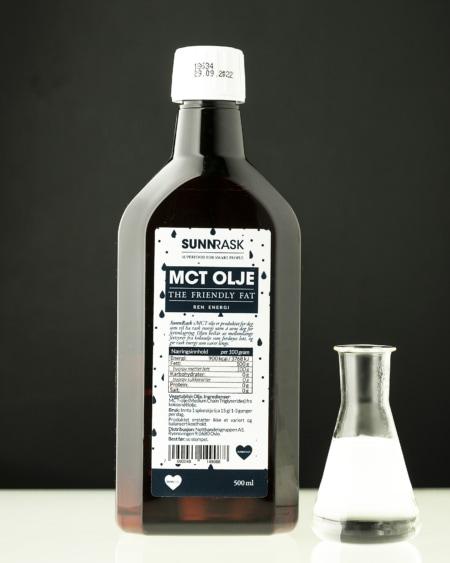SunnRask MCT Olje 500ml - NY VERSJON