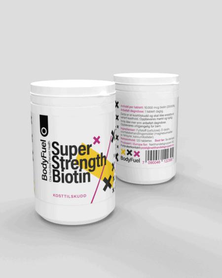 BodyFuel Super-Strength Biotin - FIRE MÅNEDERS FORBRUK