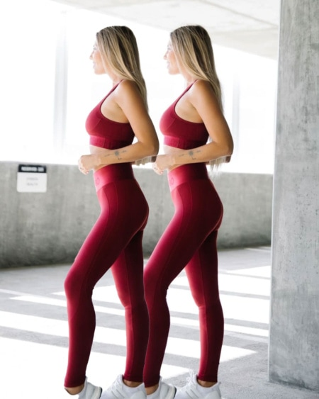 2-pack BumPro Battle Tights Solid Wine