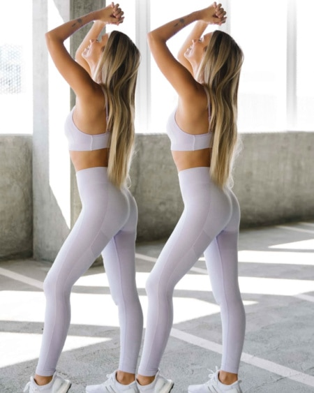 2-pack BumPro Power Up! Tights Purple Melange