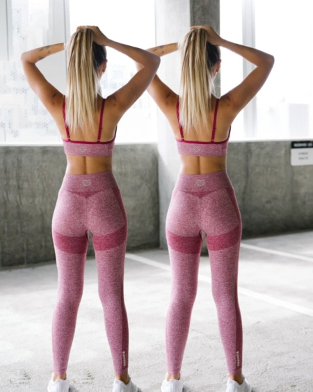 2-pack BumPro Power Up! Tights Red Melange